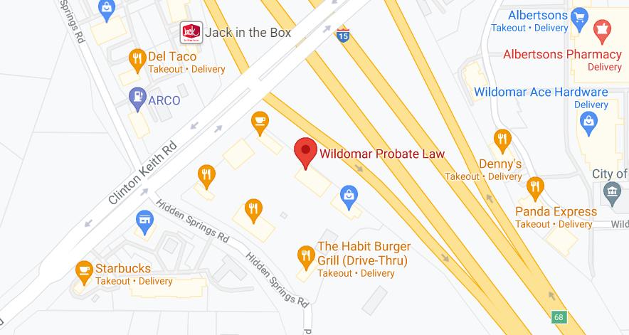 Wildormar Probate Law Attorney Map Location